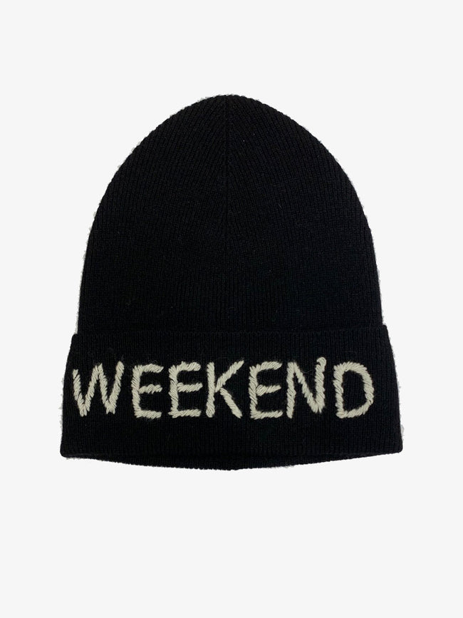 WEEKEND CASHMERE HAT BLACK