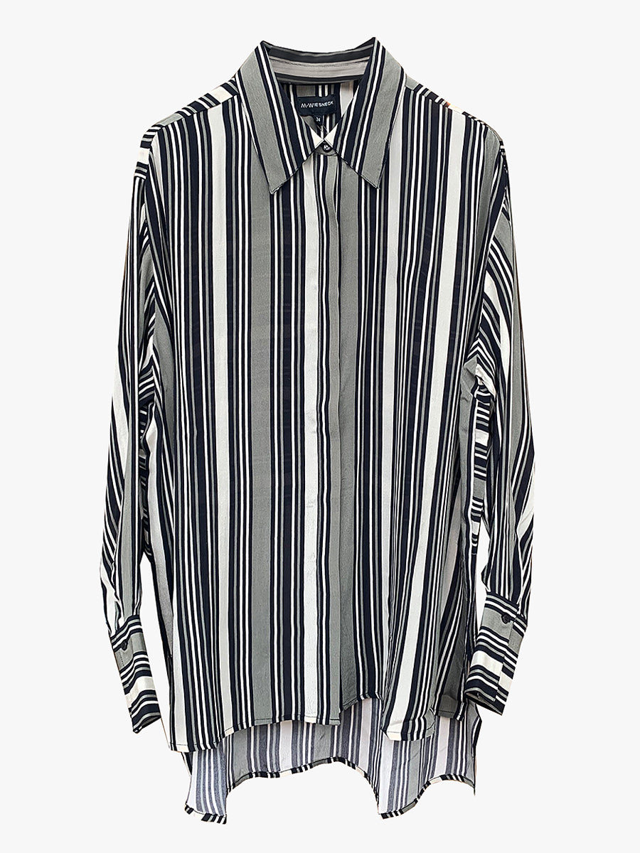 ASKI STRIPE SHIRT - FORCE GREEN