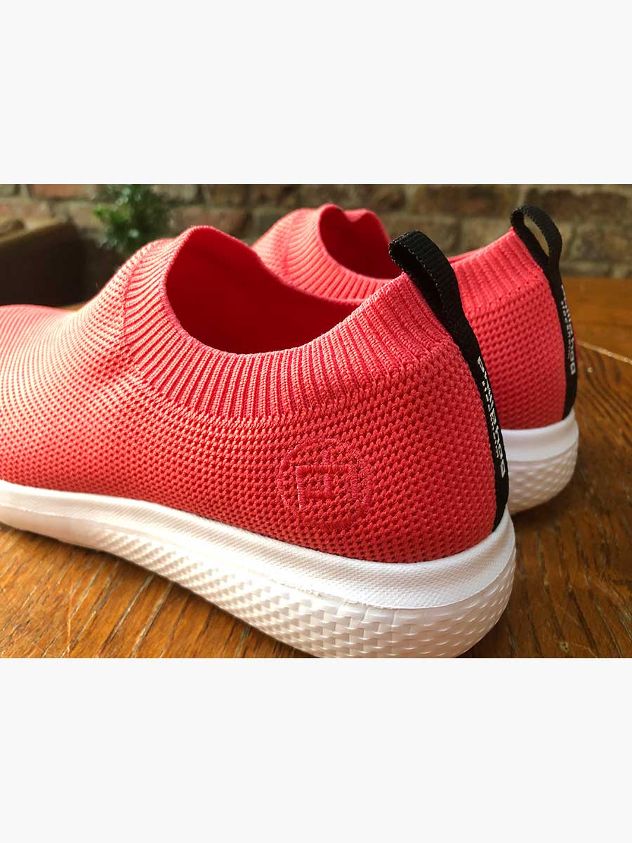 ANJA RECYCLED FLYKNIT TRAINERS - CORAL