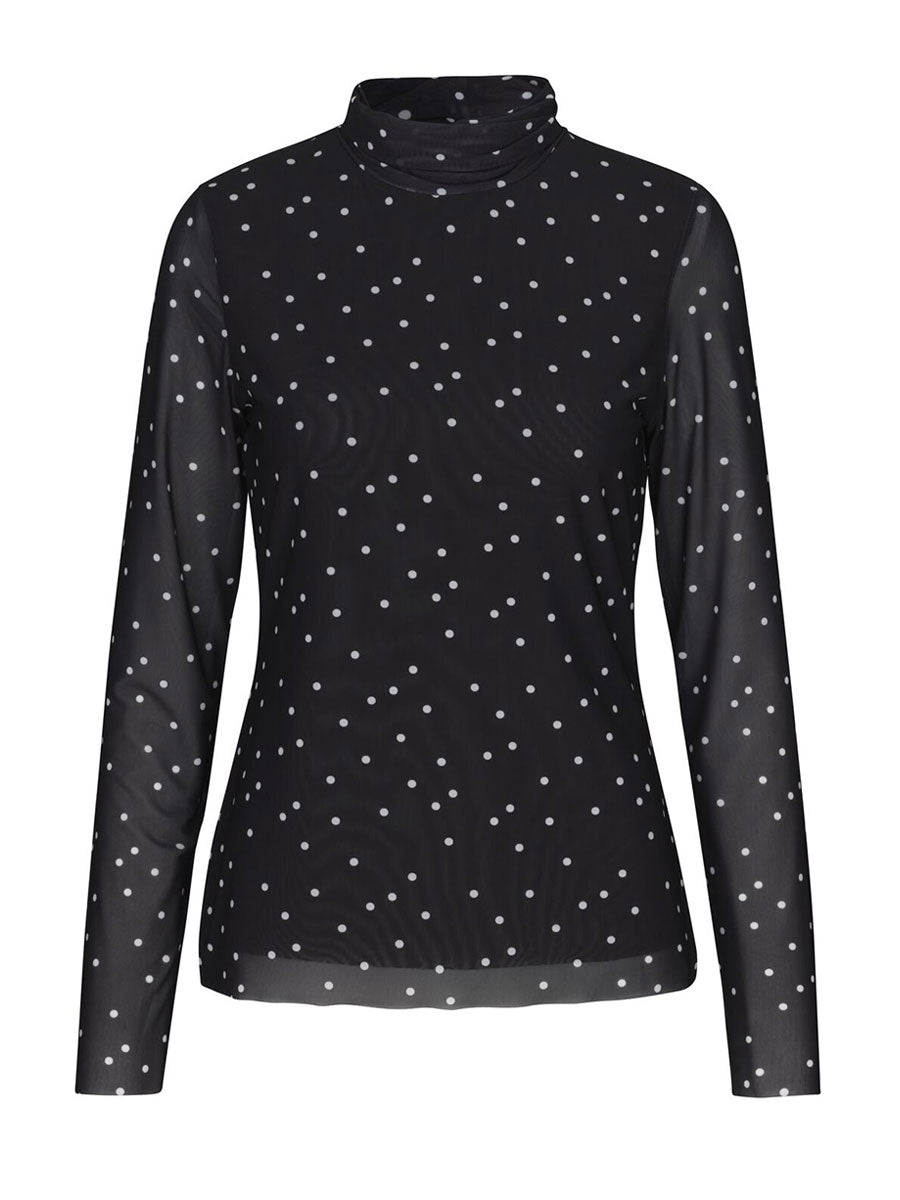 GILLINE TOP- BLACK DOT
