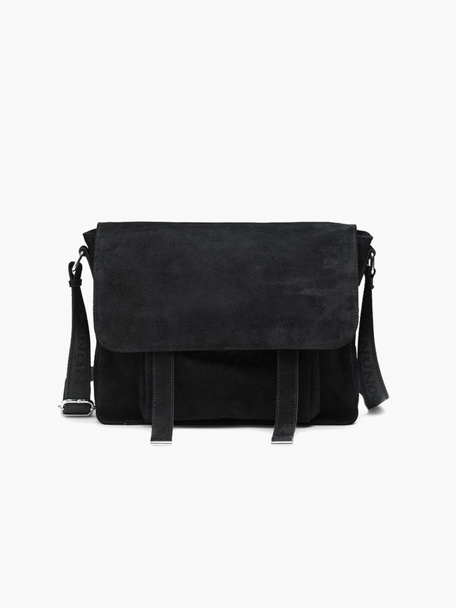 JUKU NEW SUEDE BAG - BLACK