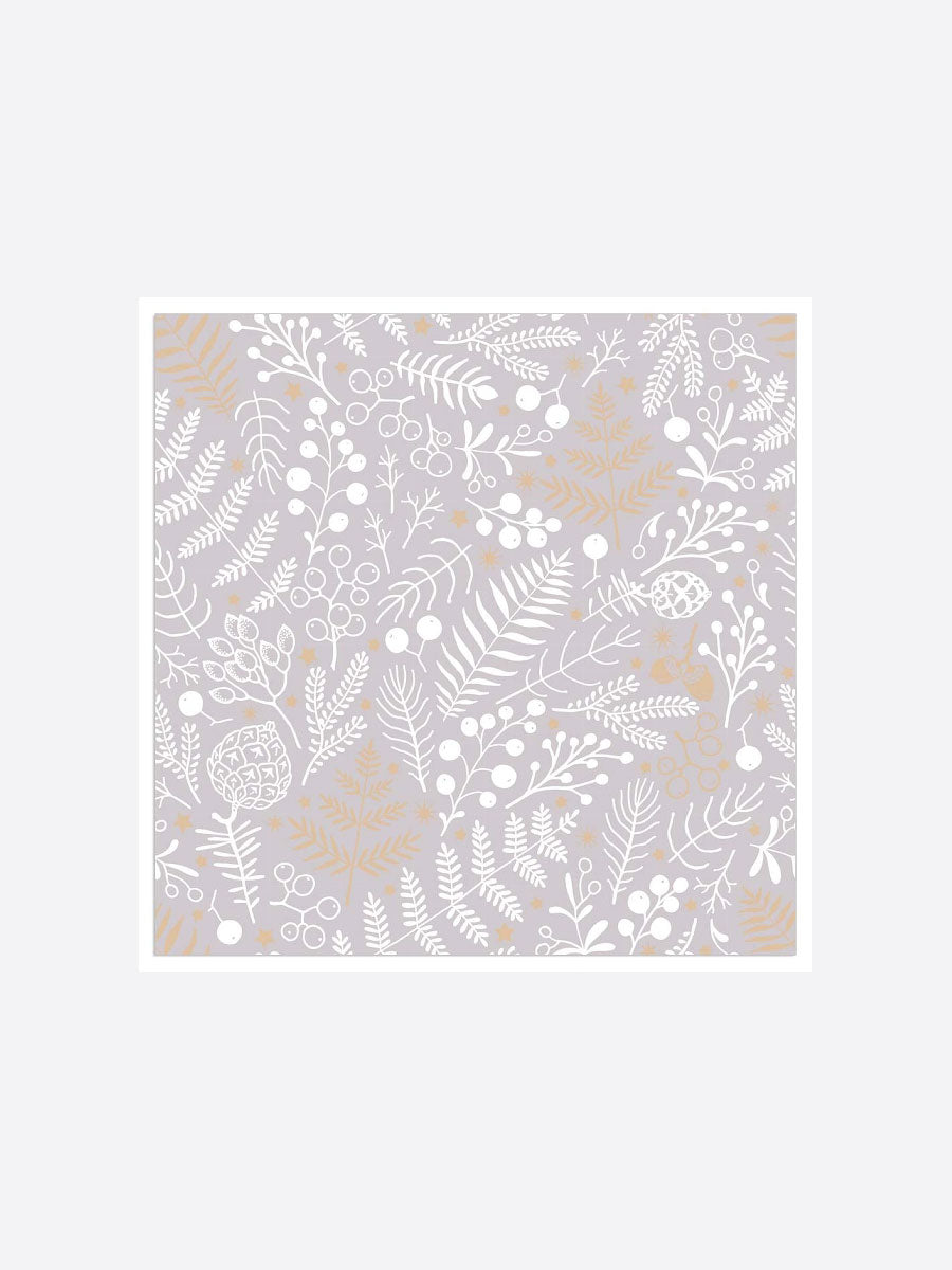 LEAF PATTERN NAPKINS - GOLD TAUPE