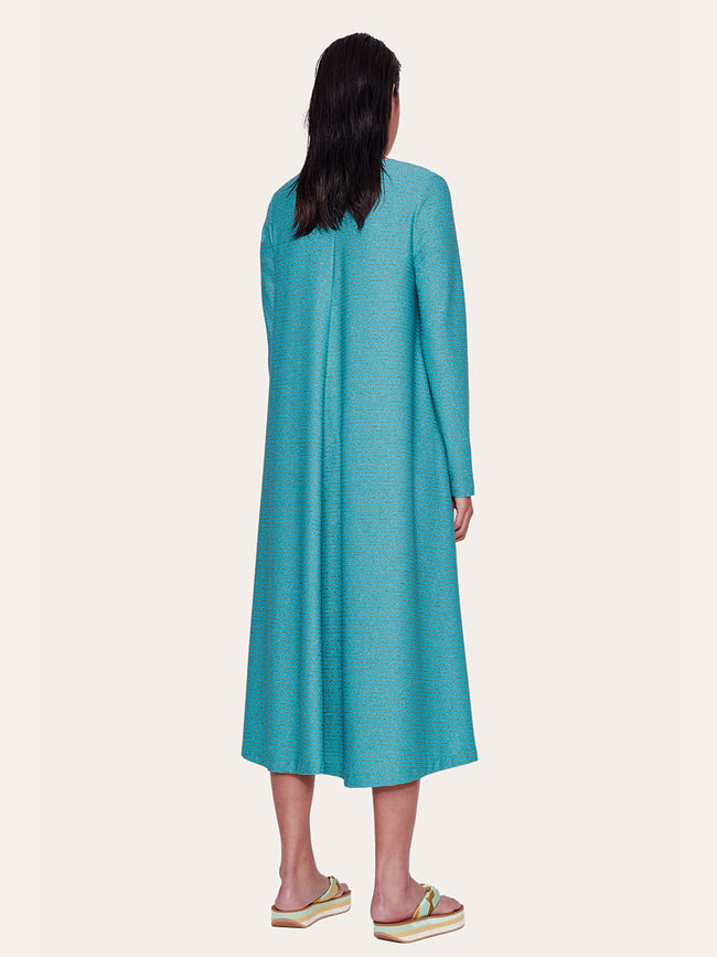LAUREN MIDI DRESS - TURQUOISE