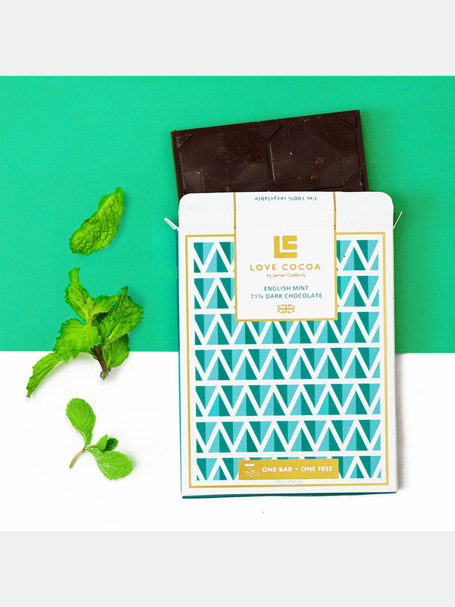 ENGLISH MINT 71% DARK CHOCOLATE BAR
