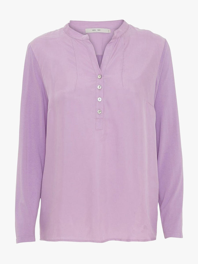 LOLITA LONG SLEEVE BLOUSE - PURPLE