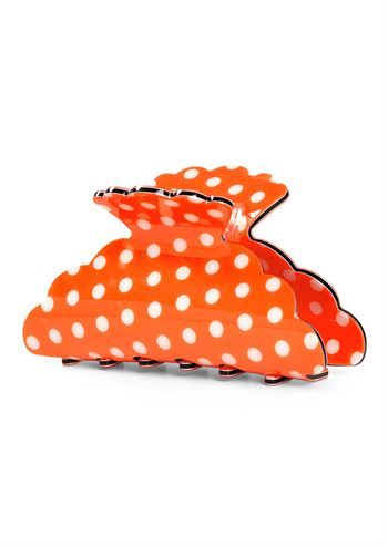 LOTTE POLKA DOT CROCOCILE CLIP - ORANGE