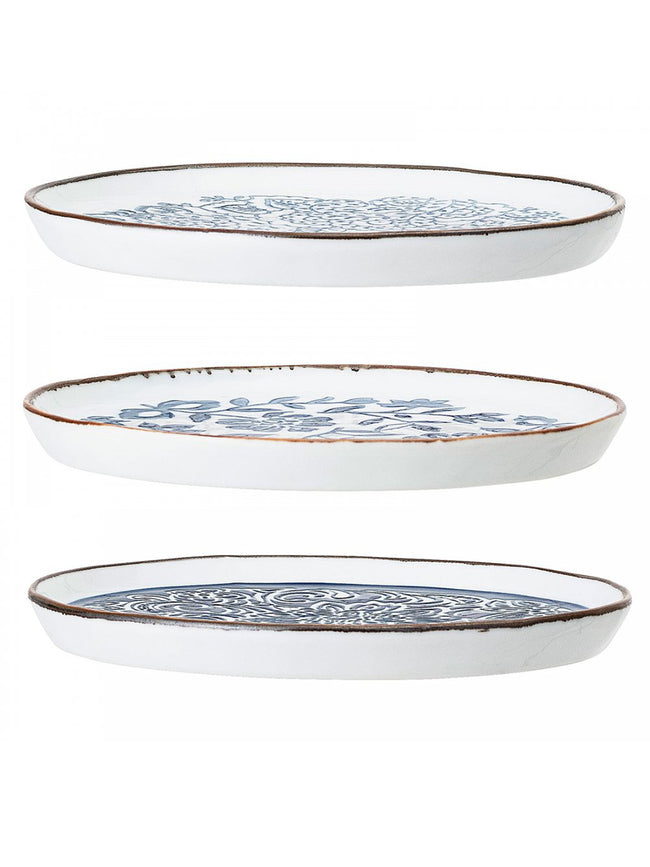 MOLLY PLATE SET OF 3 - BLUE