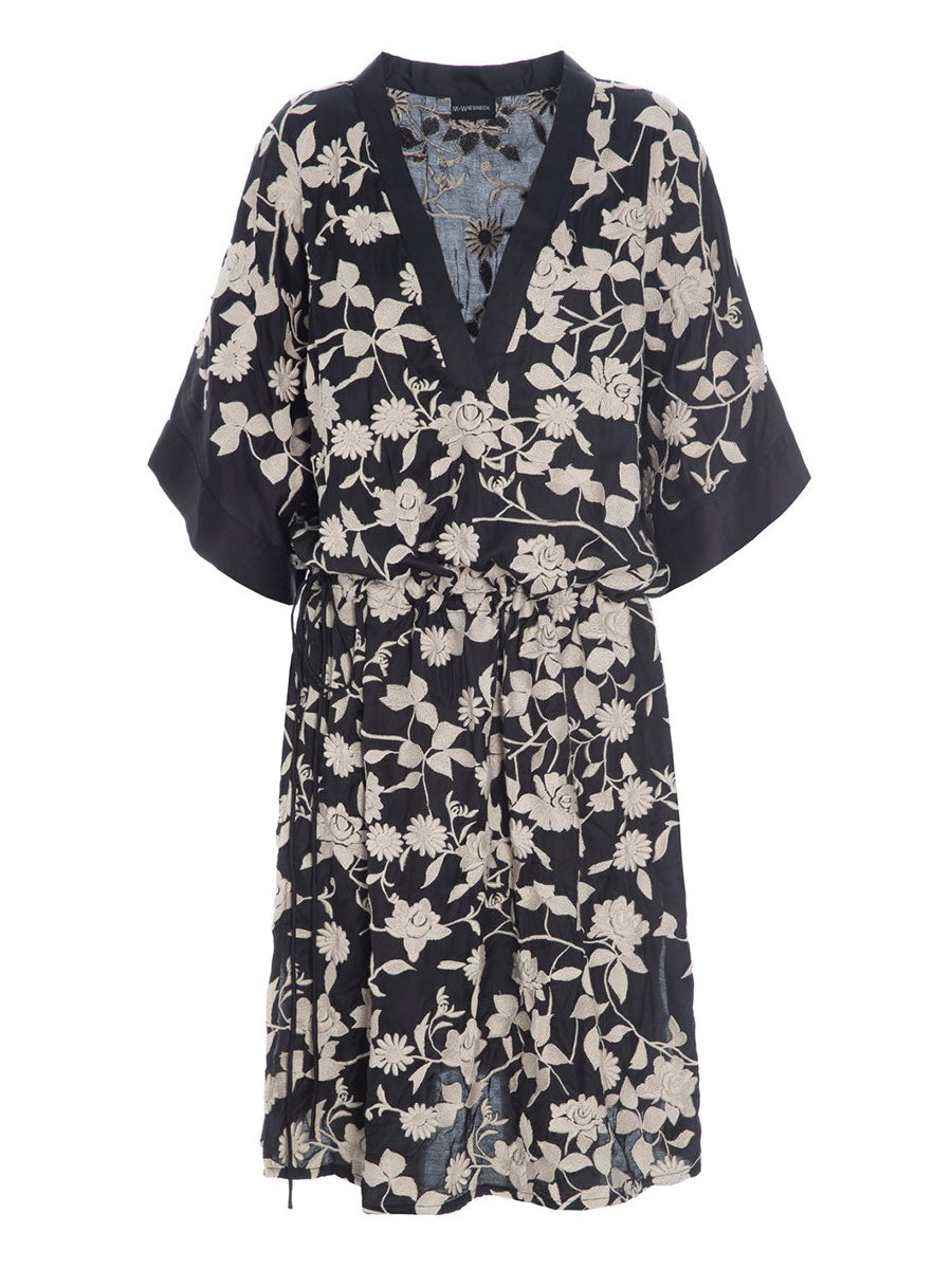 KISSATO EMBROIDERED TUNIC DRESS
