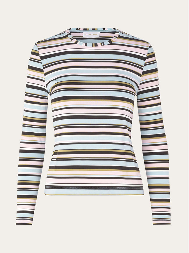 MAYA JERSEY TOP - STRIPES MULTI