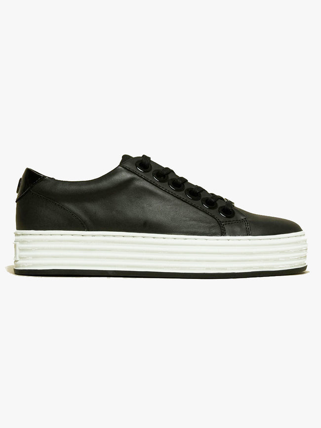 MOLLY PLATFORM TRAINERS - BLACK