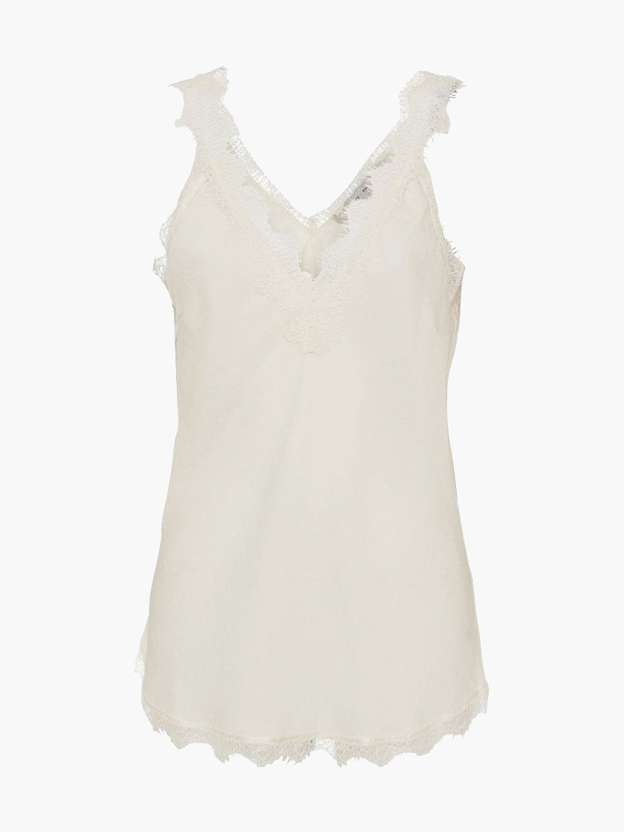 MONEYPENNY LACE TRIM CAMISOLE - OFF WHITE