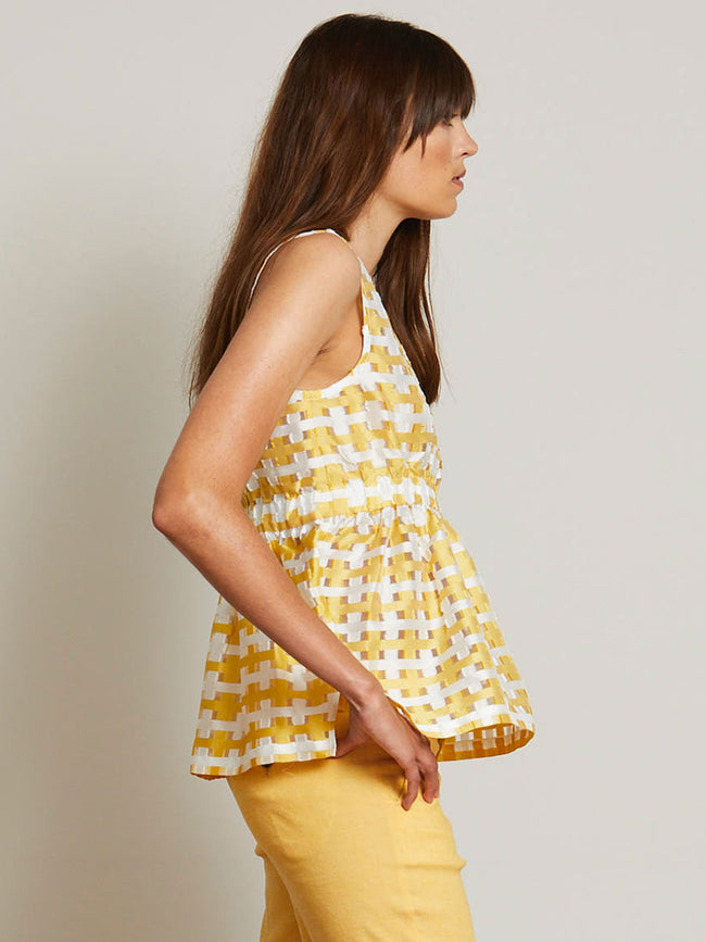 KIT CHECK SLEEVELESS TOP - YELLOW