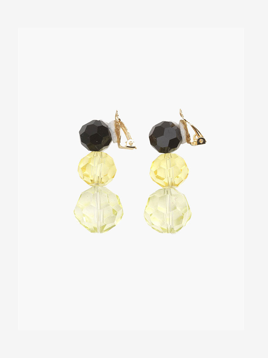PARIS CLIP ON EARRINGS - YELLOW