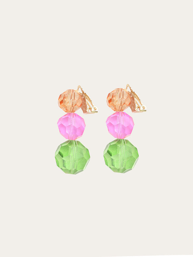PARIS CLIP ON EARRINGS - RAINBOW