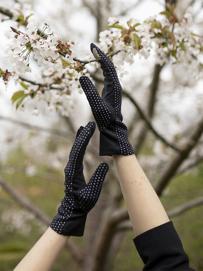 WOMEN'S PROTECTIVE SUMMER GLOVES - BLACK