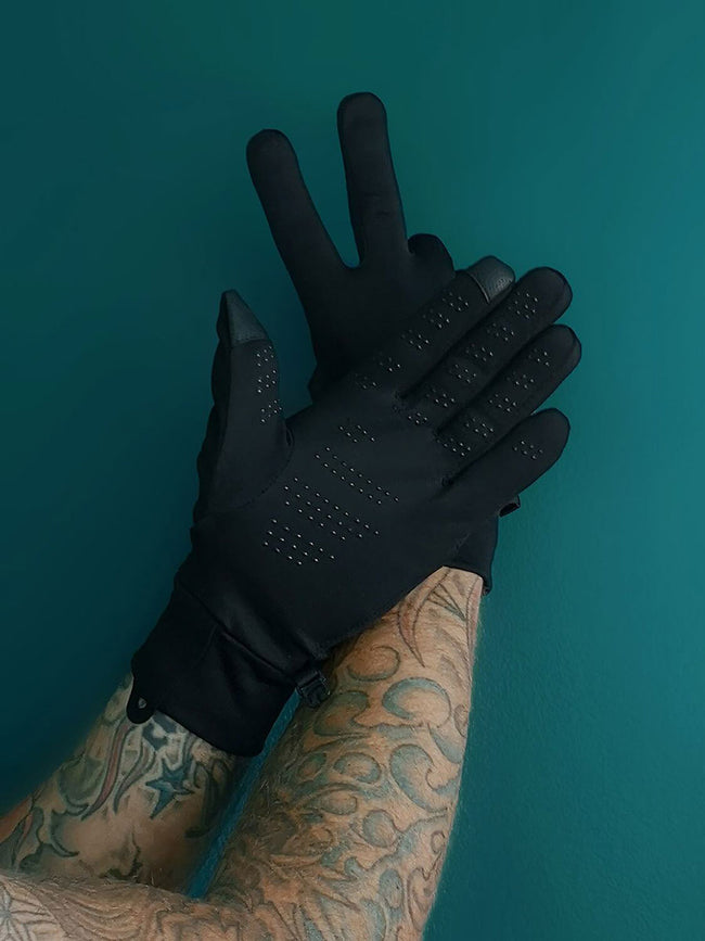 MEN'S PROTECTIVE GLOVES - BLACK