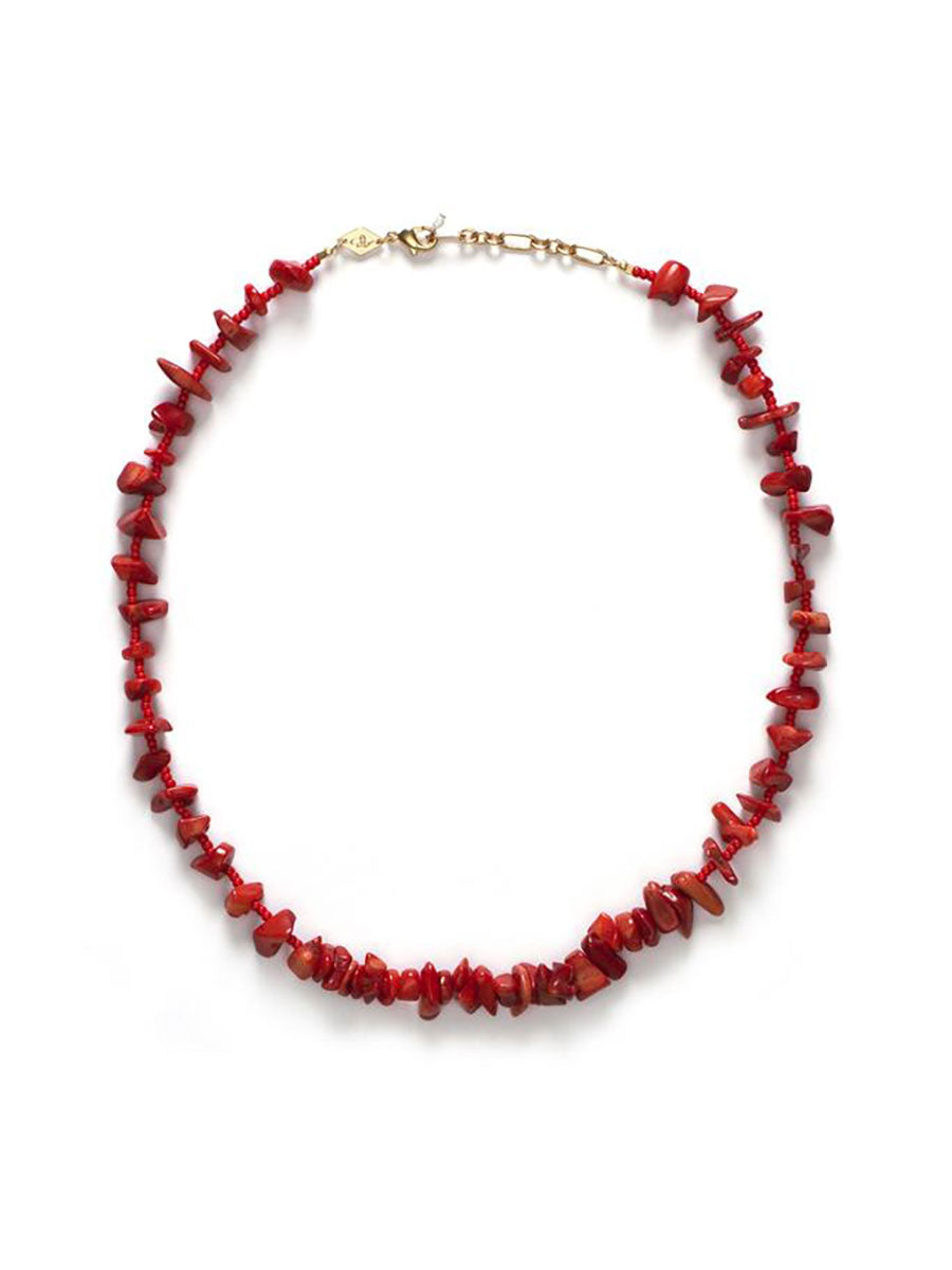 REEF NECKLACE - BURNT CORAL