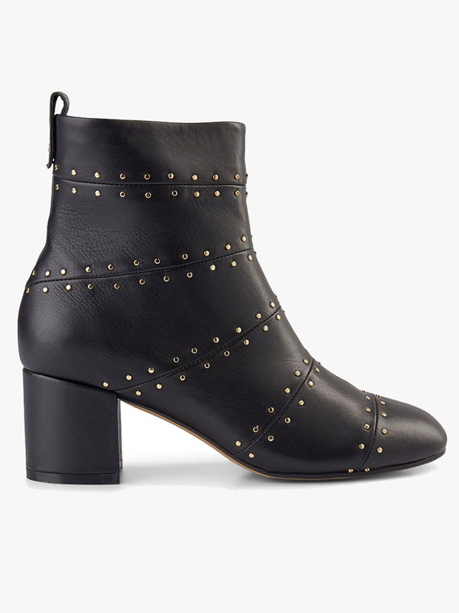 BESS PANEL ANKLE BOOTS - BLACK