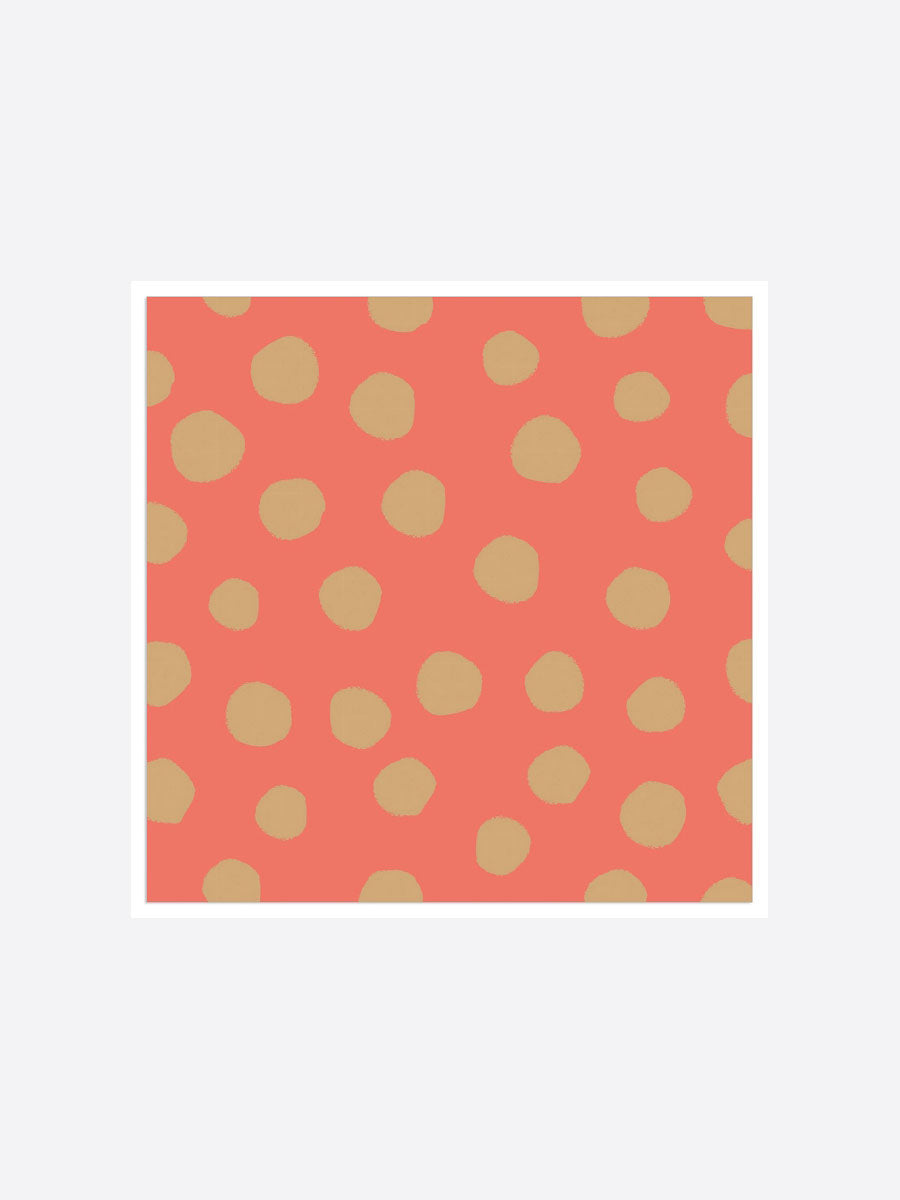 SPOTTY NAPKINS - ORANGE AND GOLD