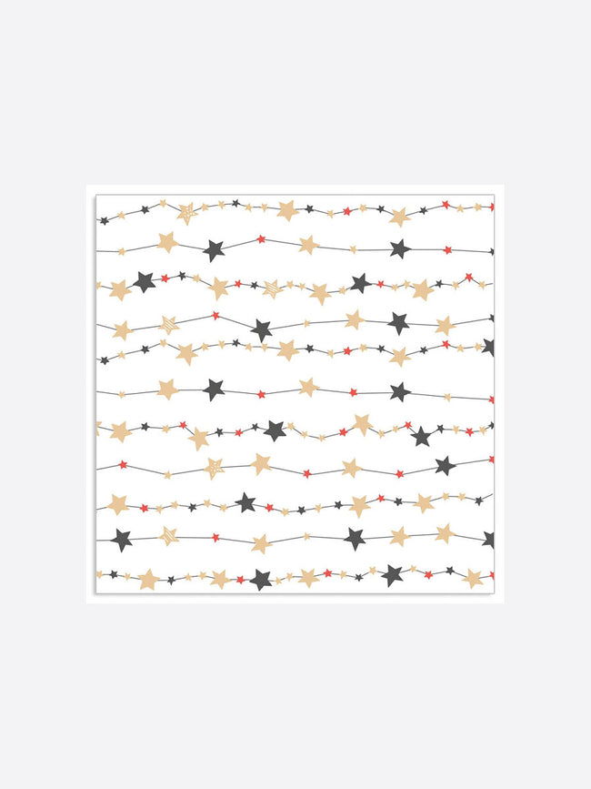 STAR GARLAND NAPKINS - WHITE