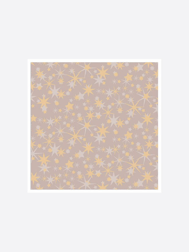 STAR PATTERN NAPKINS - GOLD TAUPE