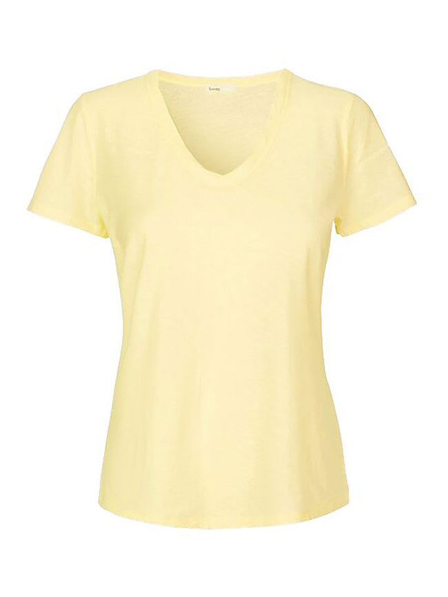 ANY2 SCOOP NECK TSHIRT - SUNSHINE YELLOW