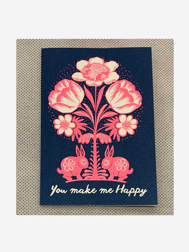 SMALL CARD - YOU MAKE ME HAPPY