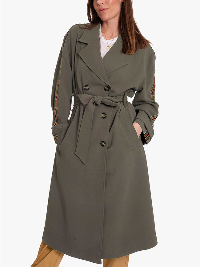 TRENCHI COAT - FORCE GREEN
