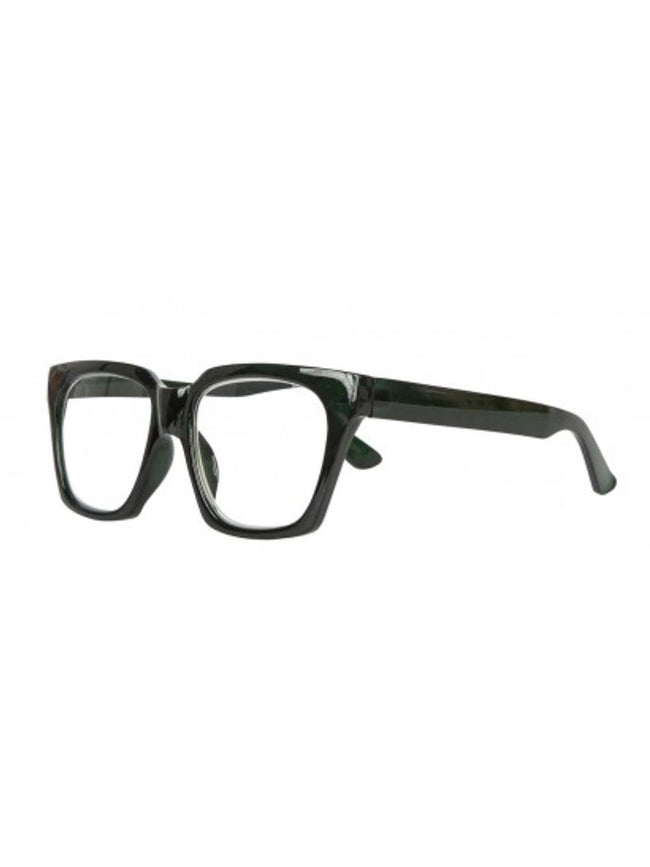 MIKA READING GLASSES - TRANSPARENT DARK GREEN