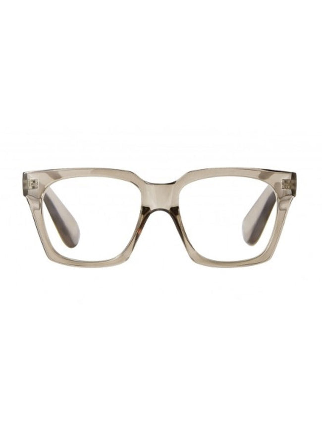 NAOMI READING GLASSES - TRANSPARENT GREY