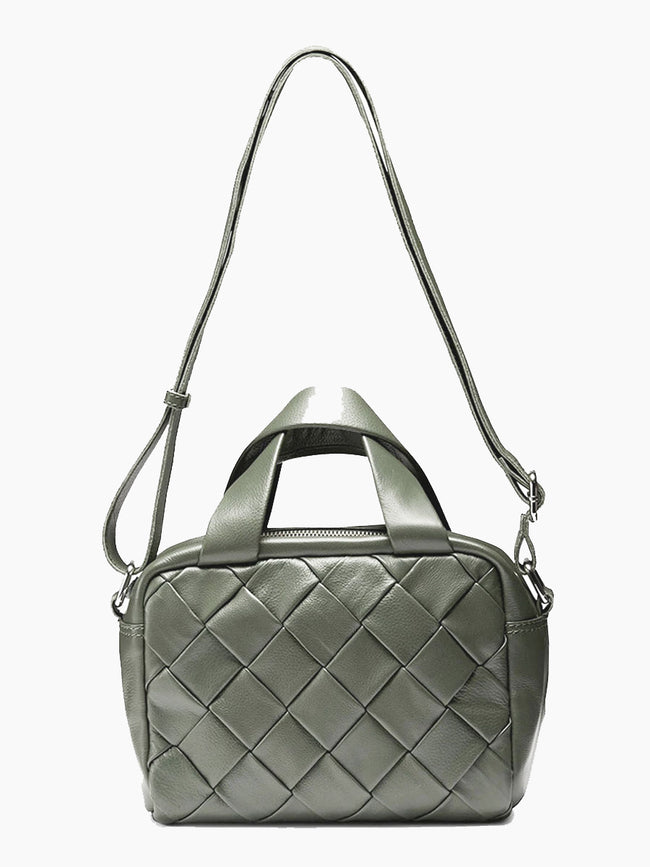 DONNA BRAIDED BAG - OLIVE