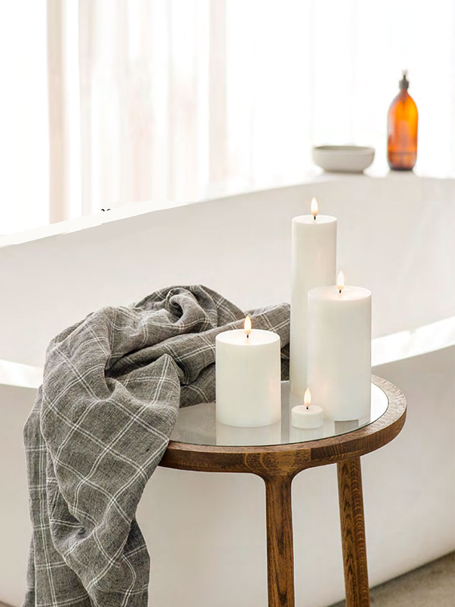LED PILLAR CANDLE 7.8X10 - NORDIC WHITE