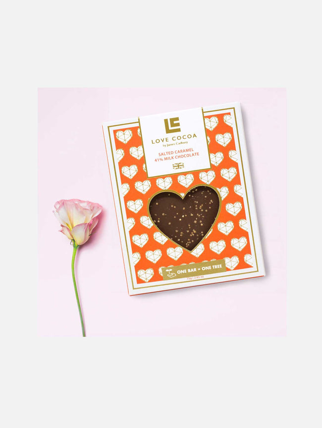 HEART SALTED CARAMEL MILK CHOCOLATE BAR