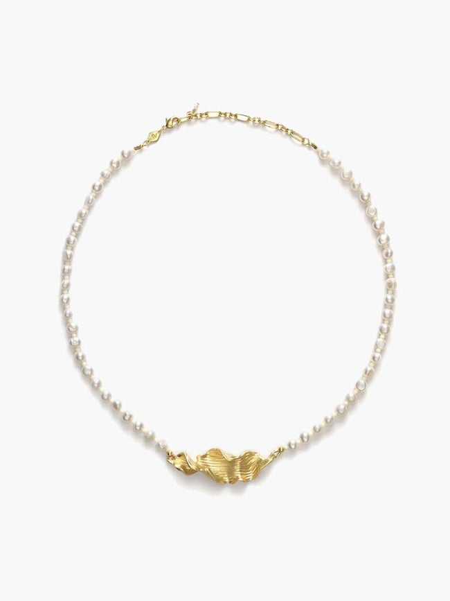 SEAWEED PEARLY NECKLACE - GOLD