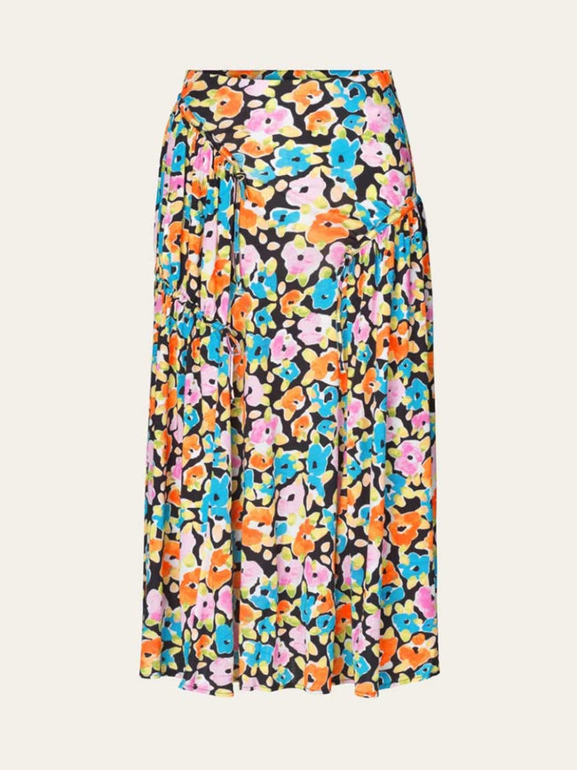 PALOMA SKIRT - WATERCOLOUR FLORA