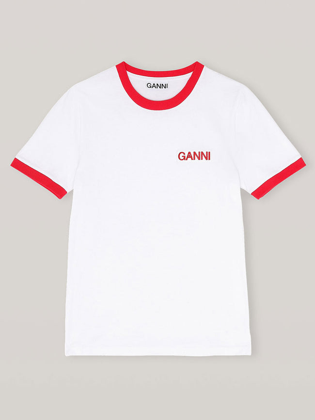 BASIC COTTON JERSEY T-SHIRT - RED