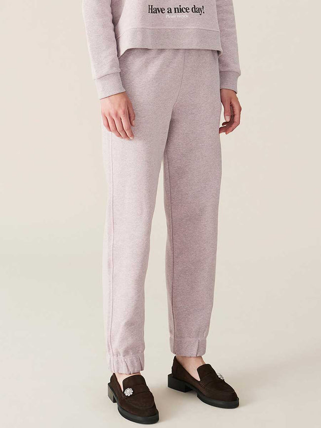ISOLI ELASTICATED TROUSERS - PALE LILAC