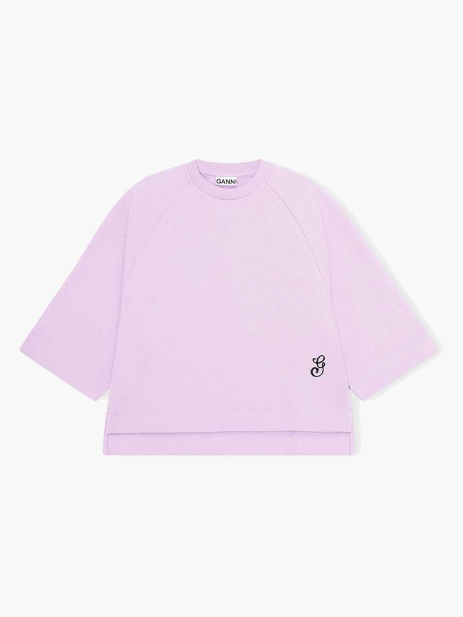OVERSIZED RAGLAN SWEATSHIRT - ORCHID BLOOM