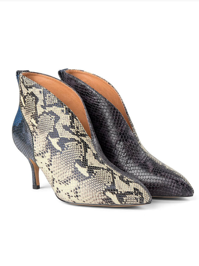VALENTINE LOW CUT SNAKE BOOTS - MIX