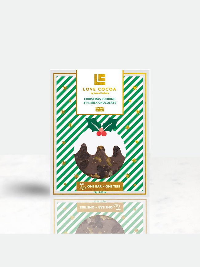 CHRISTMAS PUDDING CHOCOLATE BAR