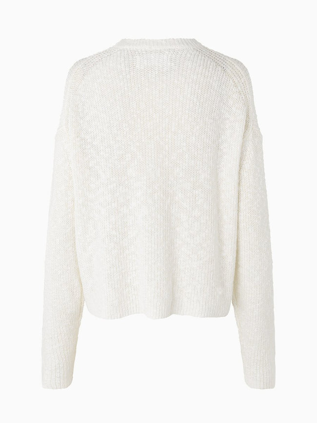 ZOEY CREW NECK - ANTIQUE WHITE