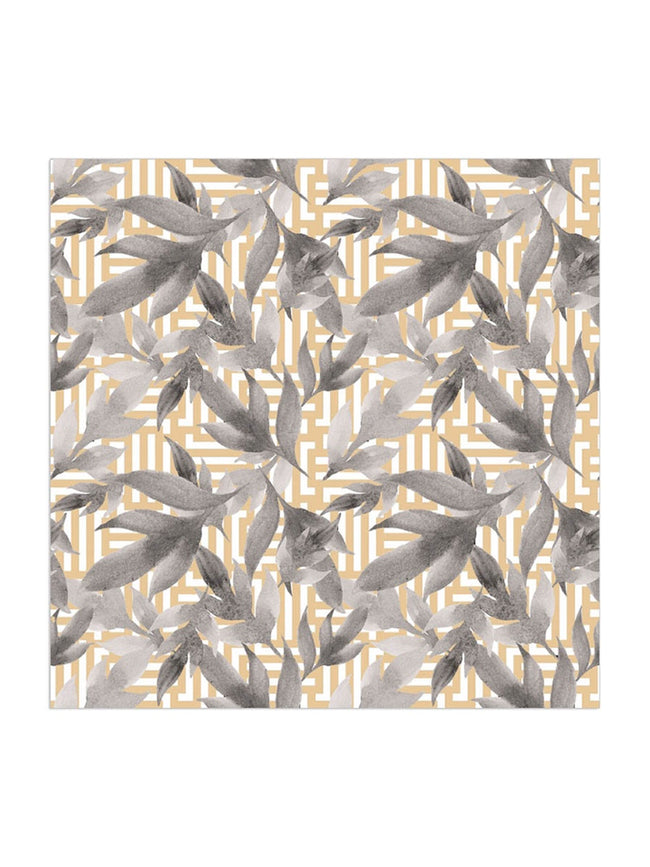 GOLD GEO LEAF NAPKINS