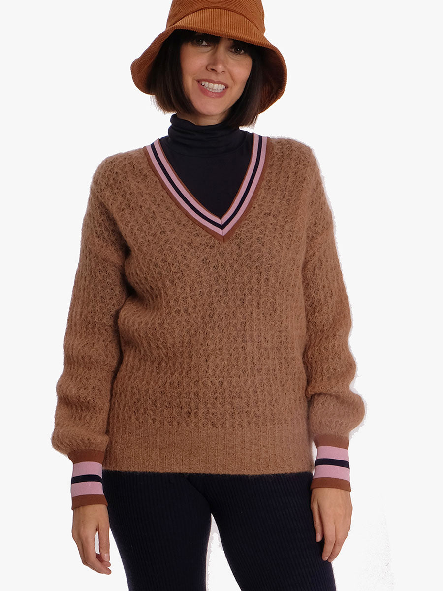 CISSE JUMPER - BROWN