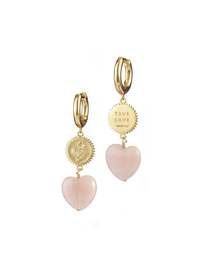 HEART OF TRUE LOVE EARRINGS GOLD