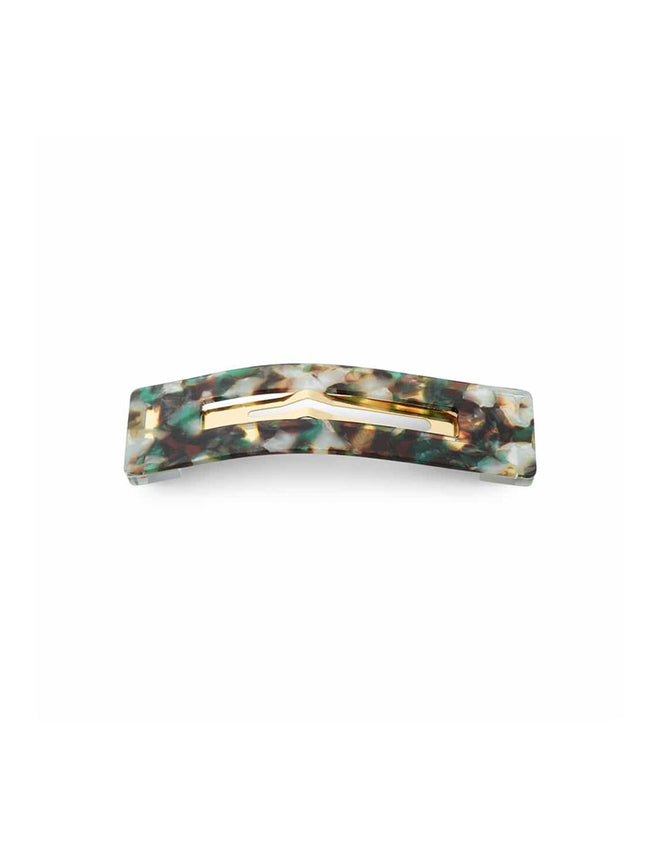 AMALIE MARBLED HAIR CLIP - GREEN