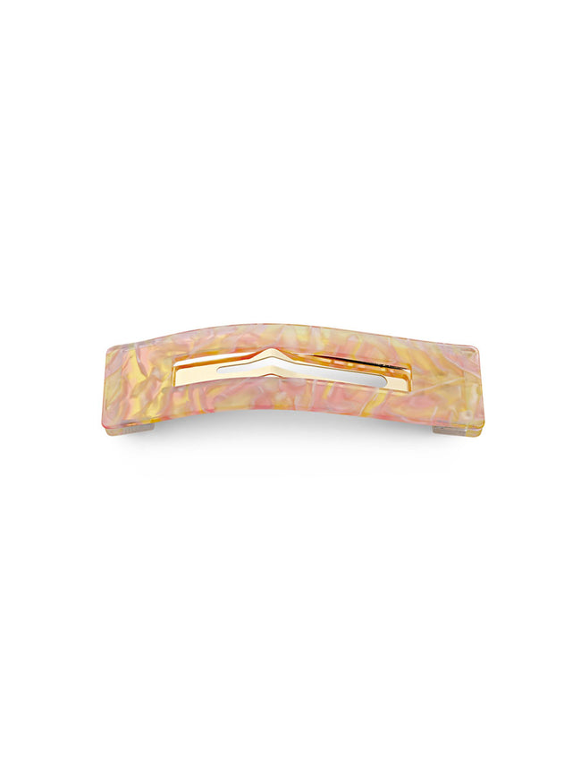 AMALIE MARBLED HAIR CLIP - PINK & YELLOW