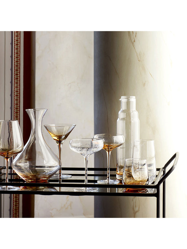 GLASS DECANTER - CARAMEL
