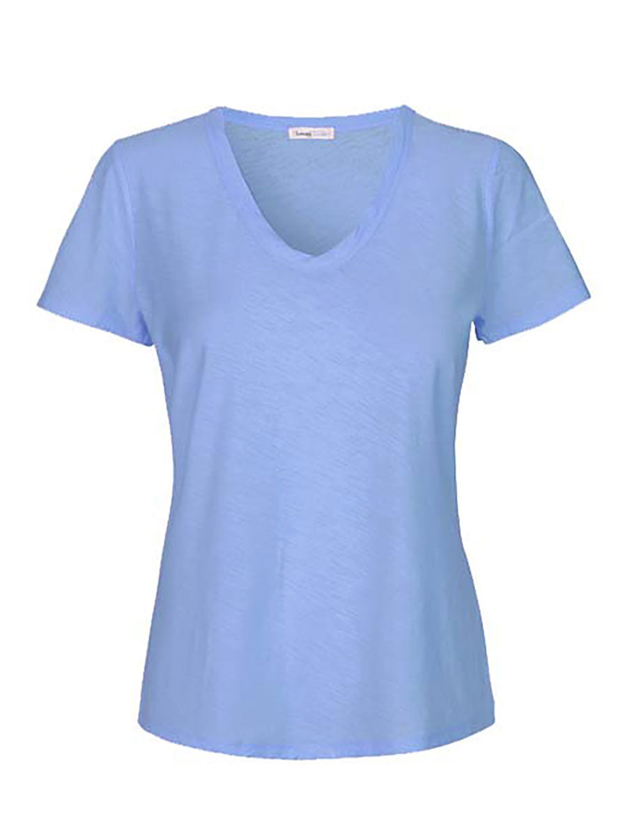 ANY2 SCOOP NECK TSHIRT - BLUE