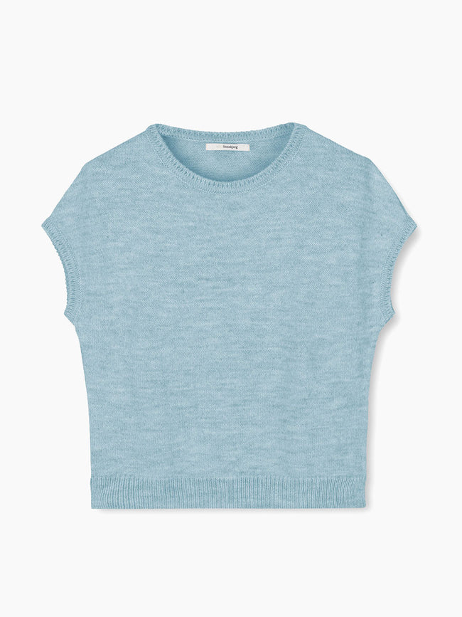 ASPEN SLEEVELESS JUMPER - DARK MINT