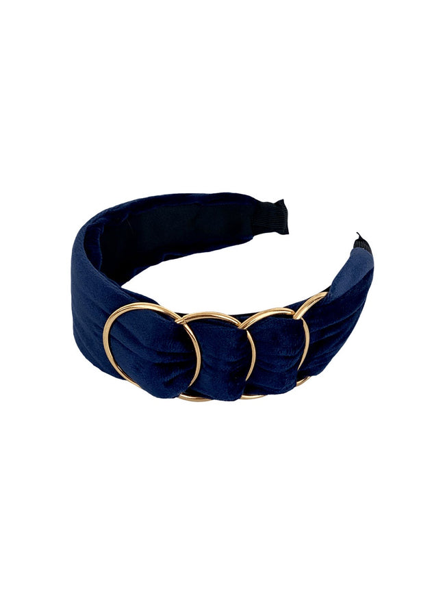 HAZE GOLDRING HEADBAND - NAVY